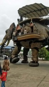 The great elephant in Nantes (http://www.lesmachines-nantes.fr/)