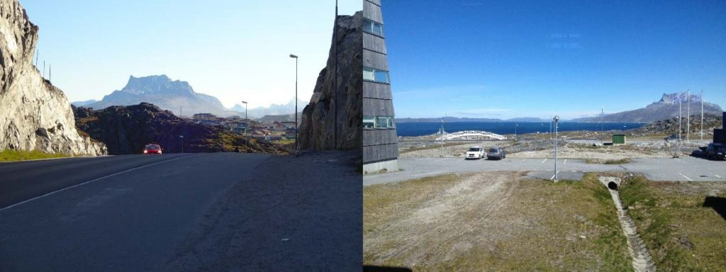 Scenery from our daily walk from Nuuk downtown to the University of Greenland.
