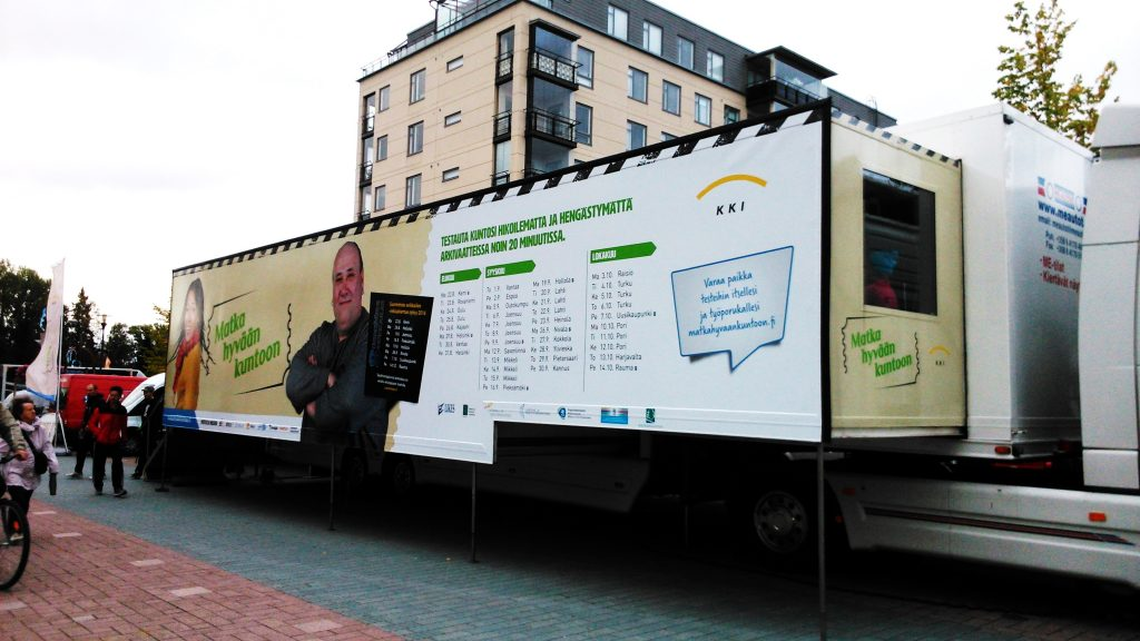 A fitness test truck - such a great idea.