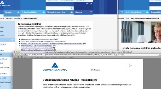 Suomen Akatemian deadline lähestyy – oletko valmis?