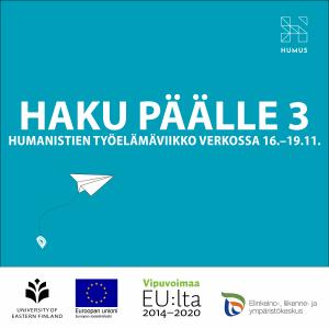 Grafiikka: Haku päälle 3, Humanistien työelämäviikko verkossa 16.–19.11.