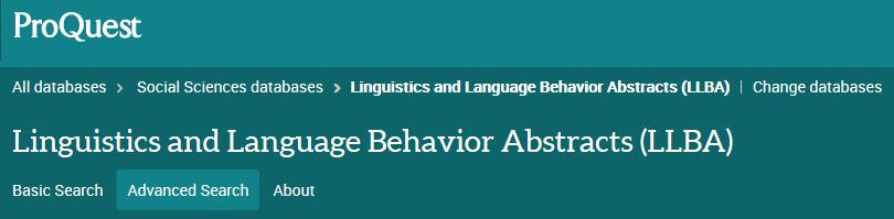 Tietokannan LInguistics and Language Behavior Abstracts logo