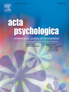 Acta Psychologica -lehden kansi.
