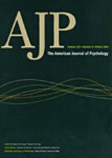 American Joournal of Psychology -lehden kansi.