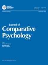 Journal of Comparative Psychology -lehden kansi