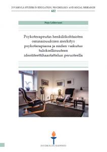 Sarjajulkaisun kansi. Julkaisu: Jyväskylä studiers in education, psychology and social research 602. Lehtovuori, P.: Psykoterapeutin henkilökohtaisten ominaisuuksien... .