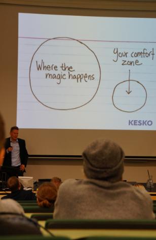 Keskon tuotepäällikön Pauli Jaakkola K-trainee ohjelman läpi vienyt ajatus. Suositellaan käytettäväksi myös opiskelussa.