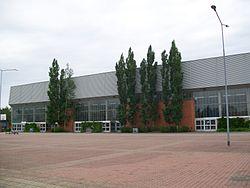 Joensuun jäähälli eli Mehtimäen halli. Lähde: wikimedia.org
