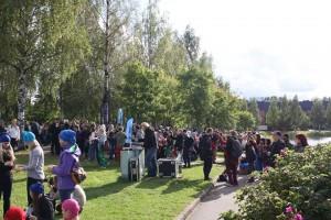 Kampusrysäyksen väkeä Kuopiossa 3.9.2015 (kuva: ISYY)