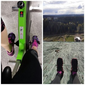 Kuopiossa on huikeat liikuntamahdollisuudet. Itseään voi lähteä ylittämään niin Sykettä spinningiin kuin Puijon mäkihyppyrinteisiinkin!