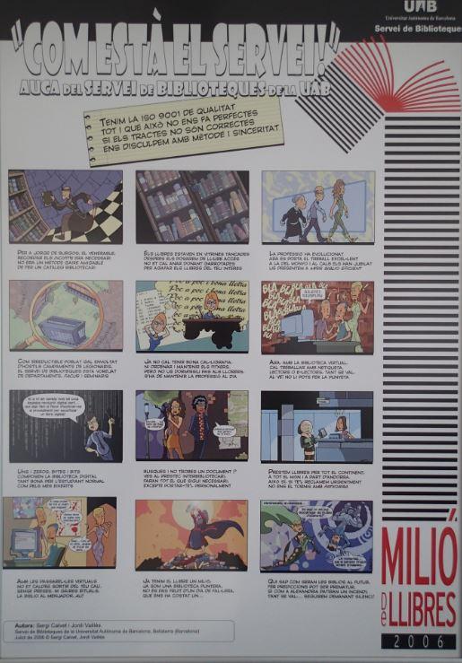 Kirjaston laatujärjestelmä sarjakuvana