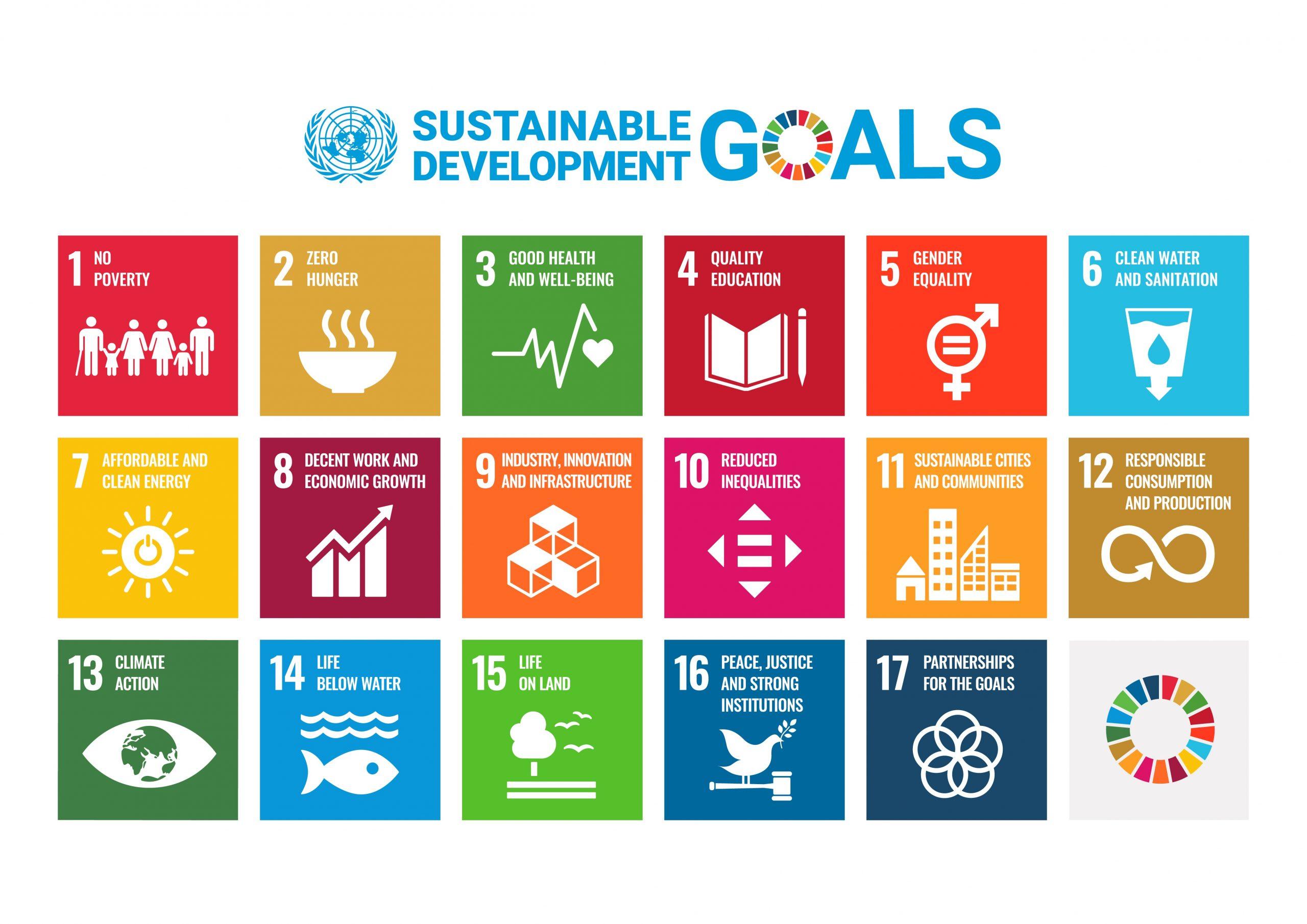 UN SDG goals as icons