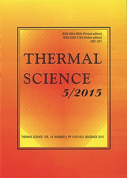 Decorative image. Cover of a scientific journal: Thermal Science 5/2015.