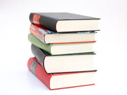 Decorative image. Pile of books.