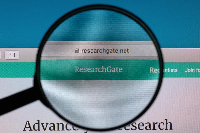Decorative image. ResearchGate logo under the microscope.